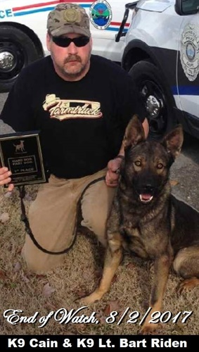 Crossville, TN, K-9 Cain died after being stabbed by a suspect, police say. (Photo: Crossville PD)