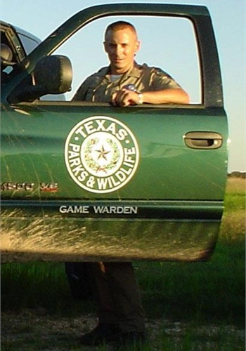 Texas Parks and Wildlife Department warden Justin Hurst was killed in 2007.