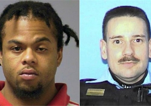 Bryant Brewer (left) is charged with murdering Officer Thor Soderberg.