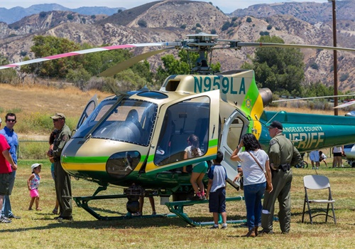 The Los Angeles County (CA) Sheriff's Department attended the American Heroes Air Show. (Photo: Helinet Aviation)