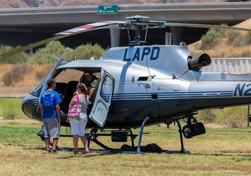 An LAPD helicopter was on display at the American Heroes Air Show. (Photo: Helinet Aviation)
