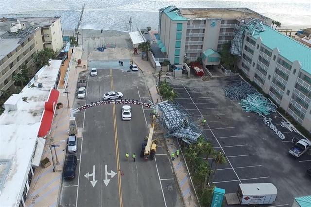 Damage in Daytona Beach caused by Hurricane Irma. (Photo courtesy of Embry-Riddle Aeronautical University.)