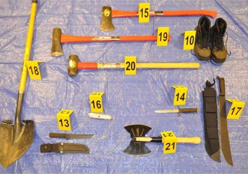 Some of the items found in the car of suspected serial killer Neal Falls.