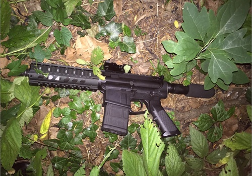 This AR-style rifle was recovered at the scene. (Photo: Baltimore PD)