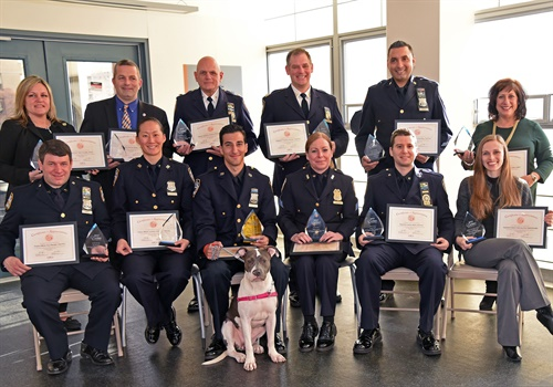 The ASPCA honored members of the NYPD and two Assistant District Attorneys for their commitment and dedication to helping animals through the NYPD/ASPCA Partnership. (Photo: ASPCA/Anita Kelso Edson)