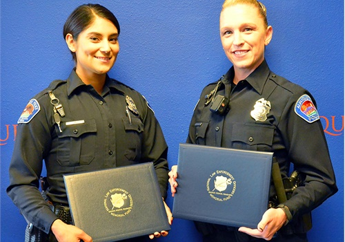 Officer Candace Bisagna and Officer Brandi Madrid of the Albuquerque (NM) Police Department (Photo: NLEOMF)