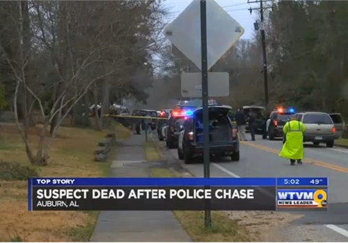 The suspect reportedly killed himself at the end of the pursuit. (Photo: WBRC screen shot)