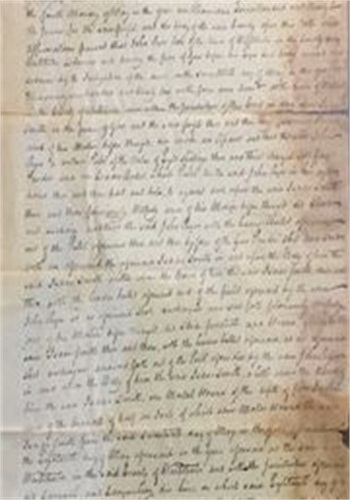 The handwritten indictment ofJohn Ryer. (Photo: Westchester County (N.Y.) Archives)