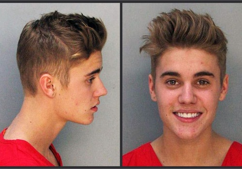 Justin Bieber's mug shot. (Photo: Miami-Dade Corrections)