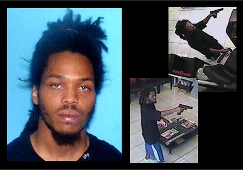 Surveillance images of David Edwin Bradley's barber shop robbery. Photos: FBI
