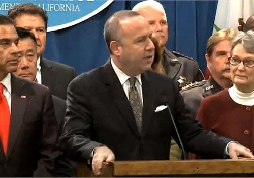 California's state Sen. Darrell Steinberg introduced a gun-violence bill in February. Screenshot via CASenDems/YouTube.