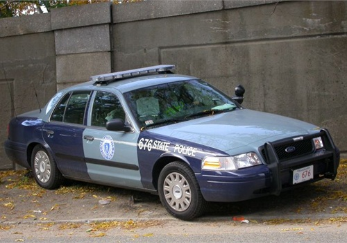 Massachusetts State Police 2005 Ford CVPI photo via Wikimedia.