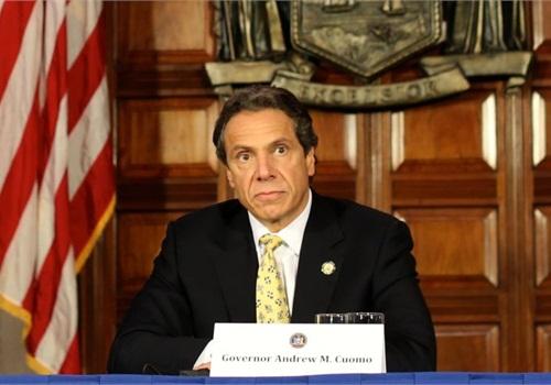 New York's Gov. Andrew Cuomo announces legislation that would limit lower-level pot arrests. Photo: Gov. Cuomo