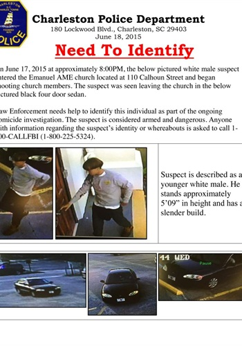 Charleston police have released this photo of the suspect and his vehicle.