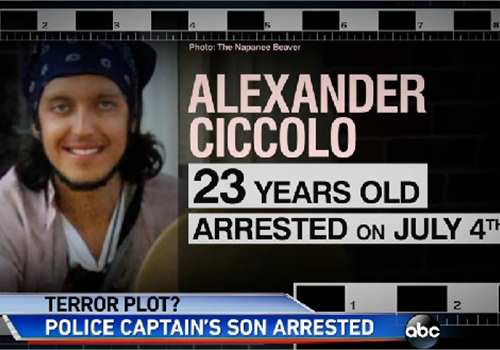 Alexander Ciccolo, 23, pleaded not guilty to terrorism-related charges this week. (Photo: ABC News screen shot)