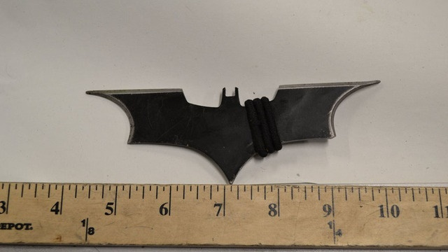 A Seattle man is charge with using a Batman weapon against police. (Photo: Facebook)