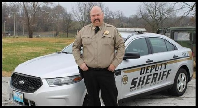 Barry County (MO) Sheriff's Deputy Carl Cosper was killed Friday morning in a crash with a school bus. He was ejected from his vehicle. (Photo: Barry County SD)