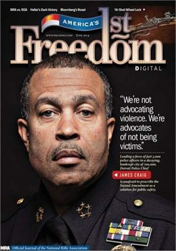 Cover of the June issue of America's 1st Freedom magazine.
