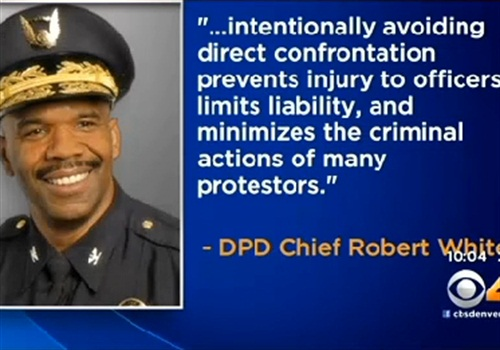 Denver Chief Robert White has responded to officer criticism that he allowed the city's fallen officer memorial to be attacked. (Photo: CBS4)