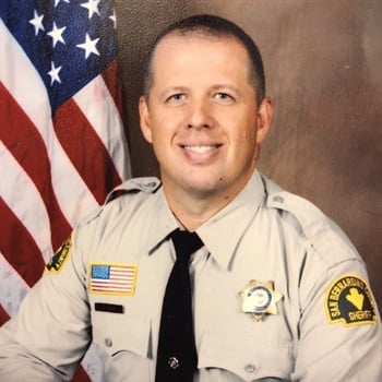 Deputy Robert Jahn was shot multiple times, including was struck below the ballistic vest he was wearing. (Photo: San Bernardino County Sheriff's Department)