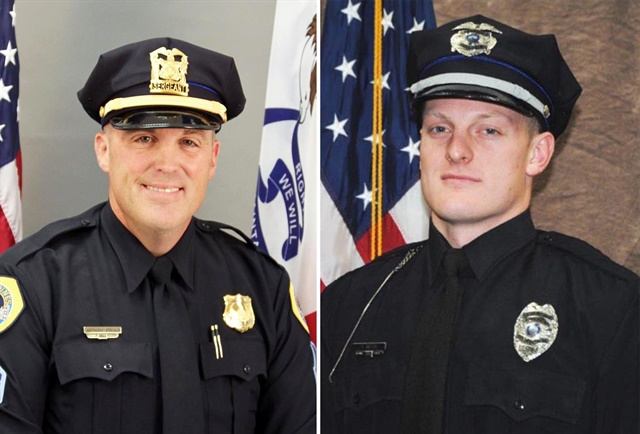 Sgt. Anthony Beminio of the Des Moines Police Department and Officer Justin Martin of the Urbandale (IA) Police Department were killed early Wednesday morning in separate ambushes.