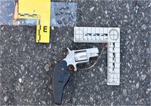 Charlotte-Mecklenburg police recovered this .22 caliber revolver at the scene. (Photo: Charlotte-Mecklenburg PD)