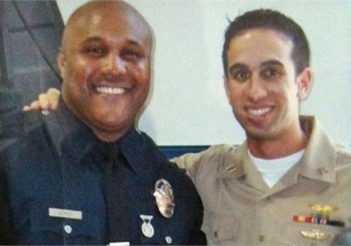 Dorner wearing his LAPD uniform. Photo via Facebook.