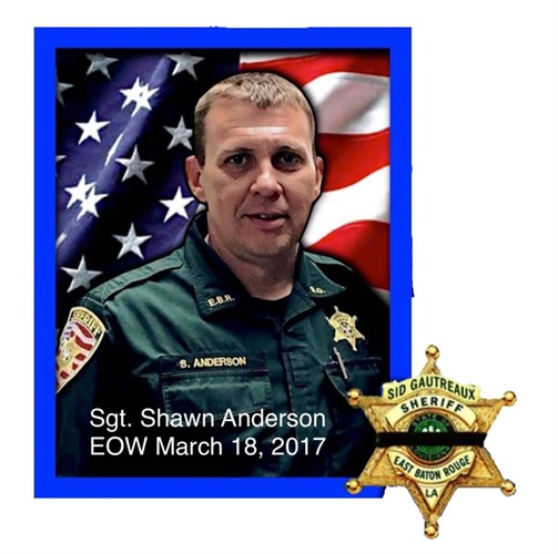 Sgt. Shawn Thomas Anderson of the East Baton Rouge Parish (LA) Sheriff's Office was killed Saturday night investigating a rape. (Photo: East Baton Rouge Parish SO)