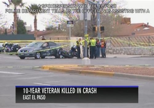 Scene of the crash. (Photo: KTSM Screen Shot)