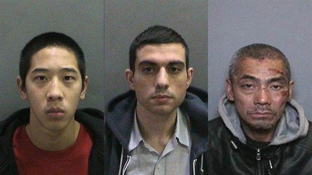 Jonathan Tieu, left, Hossein Nayeri and Bac Duong. The three escaped the Orange County Men's Central Jail by cutting through half-inch steel bars, authorities say. (Photo: Orange County's Sheriff's Department)