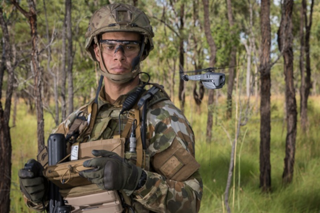 The FLIR Black Hornet 3 nano UAV is in service with U.S. and friendly military units worldwide. (Photo: Australian DOD)