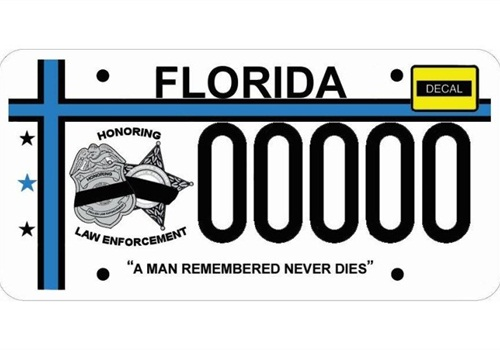 Fla  Students Design License Plate Honoring Fallen Officers