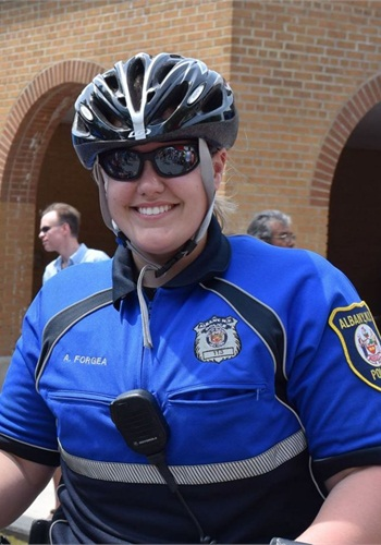 Officer Amy Forgea of the Albany (N.Y.) Police Department is trained as an EMT. (Photo: Albany PD)