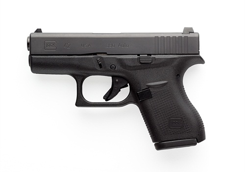 The .380 caliber G42 is the smallest pistol ever made by Glock.