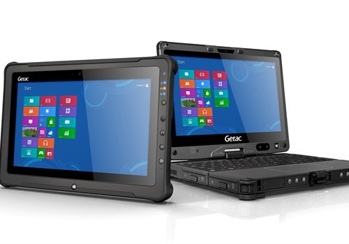 Getac says its new rugged convertible laptop and rugged tablet are the lightest on the market.