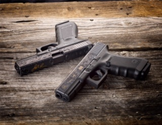Glock is celebrating its 30th anniversary in the U.S. with specially engravedG17 Gen4 pistols. Photo: Glock