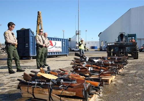 These guns were slated for destruction at an LASD gun buyback event in 2010.