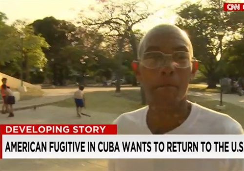Accused cop killer Charlie Hill has lived in Cuba for more than 40 years. (Photo: Screen Shot from CNN)