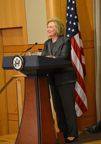 This photo shows Hillary Clinton giving an address in Nov. 2014. (Photo: State Department)