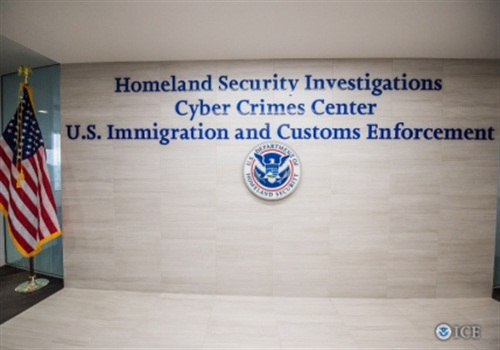 The entrance to the ICE Cyber Crimes Center. (Photo: ICE)