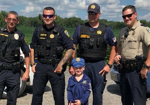 Lieutenant Jernigan, Deputy Bertram, Deputy Hopko, and Sergeant Acey were seen in photos posted to the IOWSO Facebook page. Image courtesy of IOWSO / Facebook.