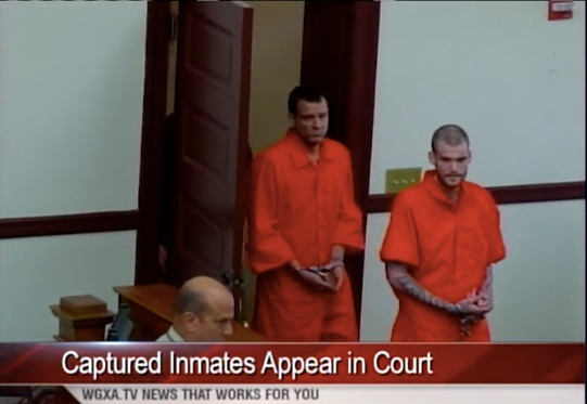 If convicted of murdering two corrections officers last week, Ricky Dubose and Donnie Russell Rowe could be executed by the state of Georgia. (Photo:Screen shot from WGXA TV video)
