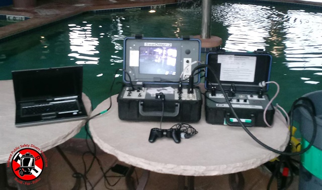 The JW Fishers ROV is equipped with sector scanning sonar (SCAN-650), which assists with search operations in low-visibility search operations. (Photo: JW Fishers)