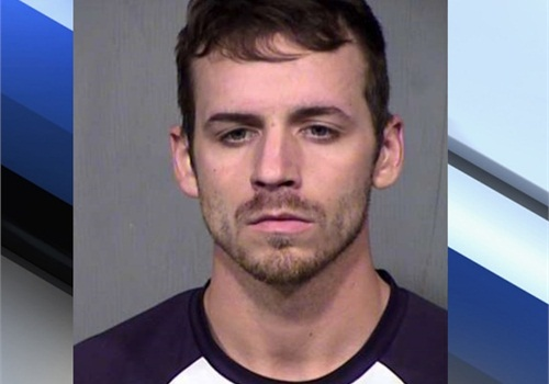 Zachary Jacobson was arrested for stabbing a patrol car. (Photo: Maricopa County SO)