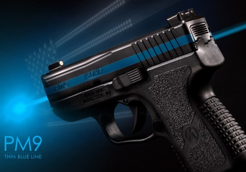Through the Fallen Officer Program, Kahr Arms will donate a Thin Blue Line model PM9 that can then be used to raise money for the family of the fallen officer or remain with the family as a keepsake. Photo: Kahr Arms