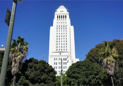 Photo of L.A City Hall: flickr/Roger