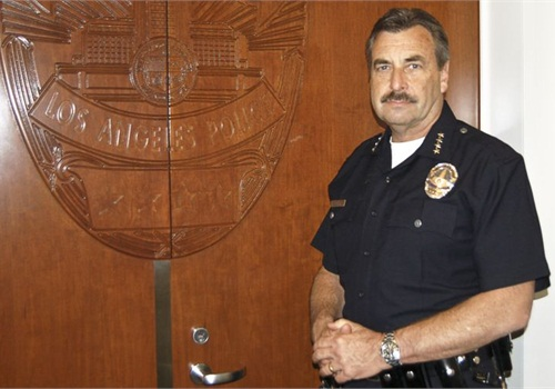 LAPD Chief Charlie Beck. Photo by Paul Clinton.