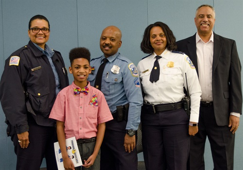 "The National Law Enforcement Museum hosted an event featuring the book ""Friendly Officers"" by 12-year-old author Miguel Coppedge. (Photo: NLEOMF)"
