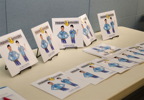 "The book ""Friendly Officers"" by 12-year-old author Miguel Coppedge. (Photo: NLEOMF)"