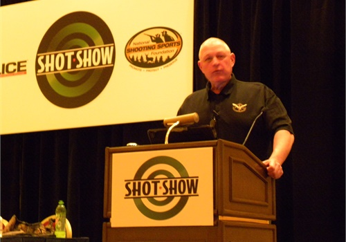 """Don Alwes will be teaching a LEEP class in the NTOA track called """"Active Shooter Update and the Advanced Police Officer"""" at the 2018 SHOT Show. This class looks at recent active shooter incidents and discusses lessons learned. (Photo: David Griffith)"""